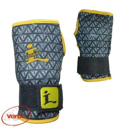 Защита-запястья гель сноуборд.H1101 (XL) серый/желтый