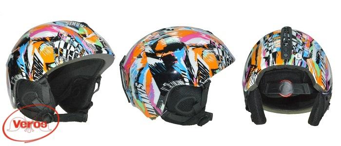 Шлем сноуборд (L) многоцветный