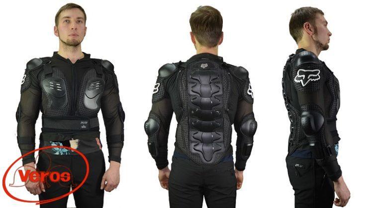 Защита-куртка пласт.сноуборд. (XL) черный