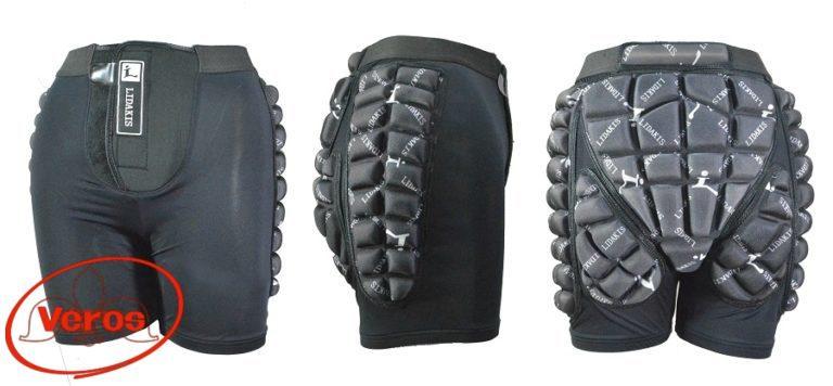 Защита-шорты гель сноуборд. B0501 (L) серый
