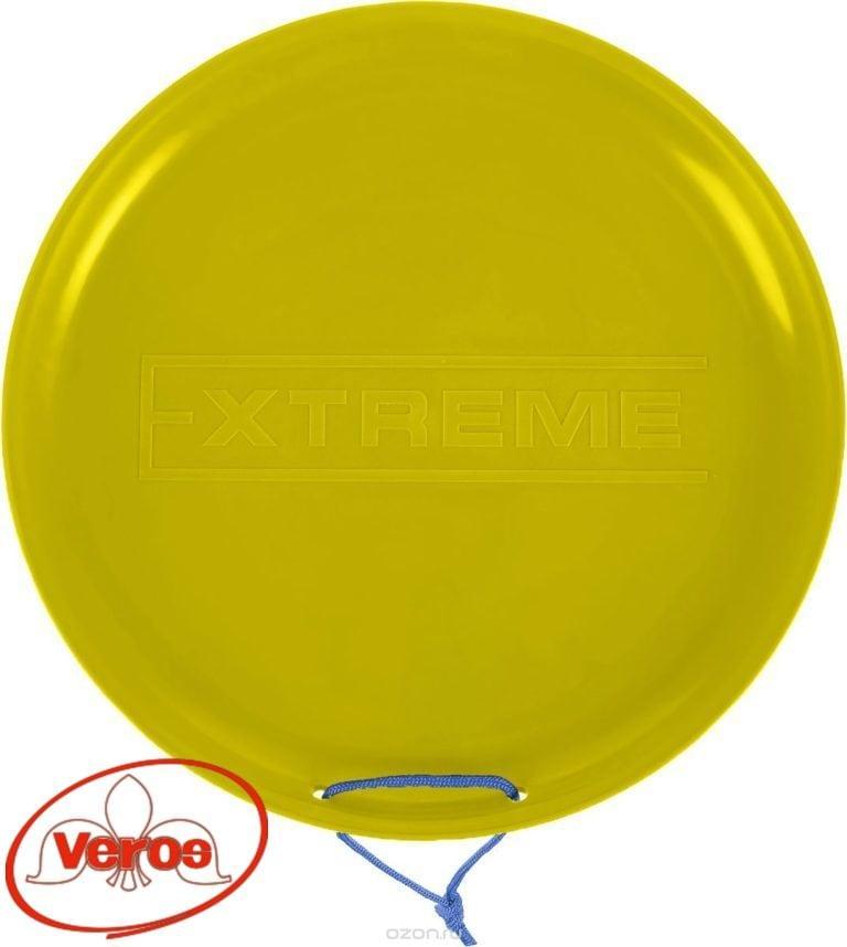 Санки-ледянки Экстрим 400 мм пластик желтый
