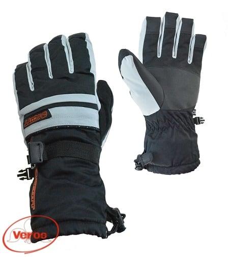 Перчатки г/лыжные Scott (6) черный/серый