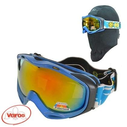 Очки г/лыжные HB-10810 полароид синий
