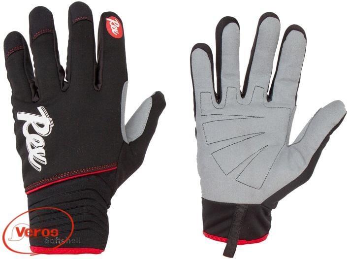 Перчатки лыжные REX Lahti (XS) черный/серый/красный