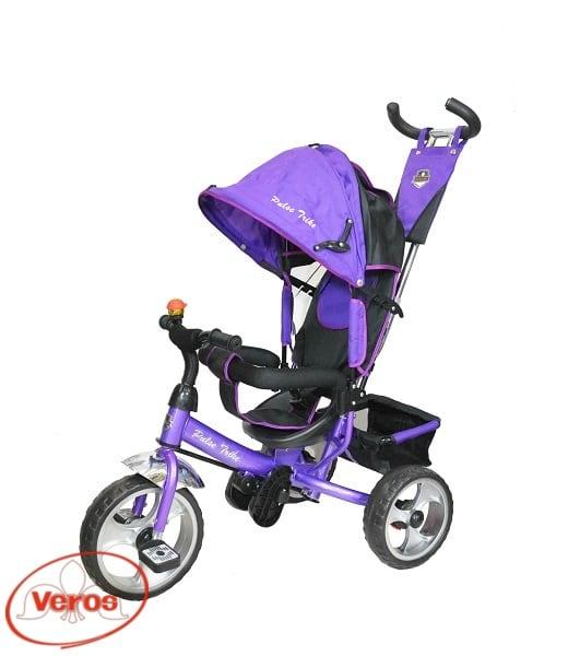 Велосипед каталка Pulse Trike PT- 03   9,3 кг фиолетовый/черный