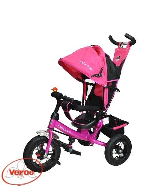 Велосипед каталка Pulse Trike PT- 04   9,3 кг розовый/черный