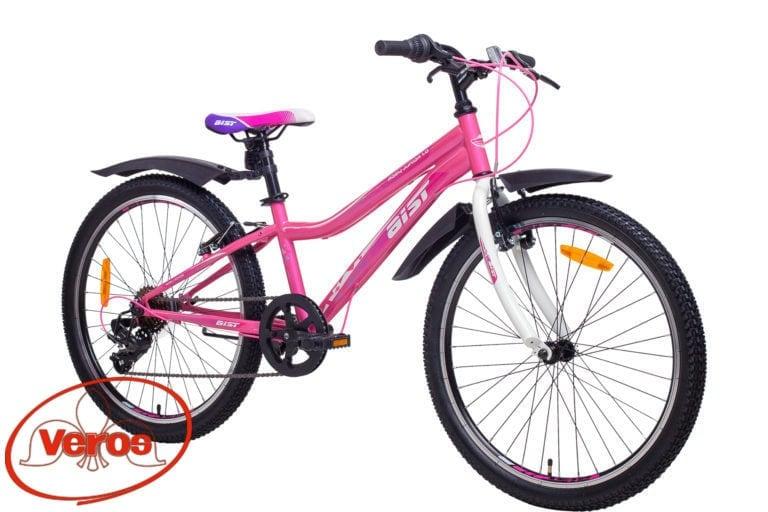 24″ AIST Rosy Junior 1.0 14″ (розовый) 14,6 кг MTB — 6 ск (18)