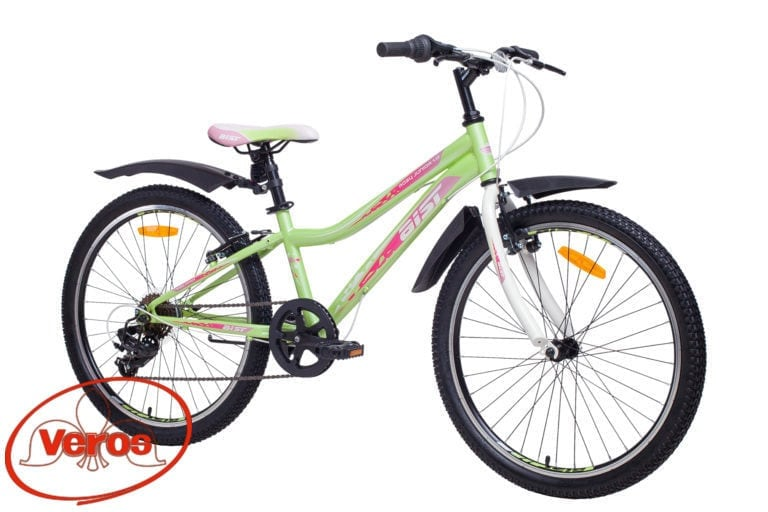 24″ AIST Rosy Junior 1.0 14″ (зеленый) 14,6 кг MTB — 6 ск (18)