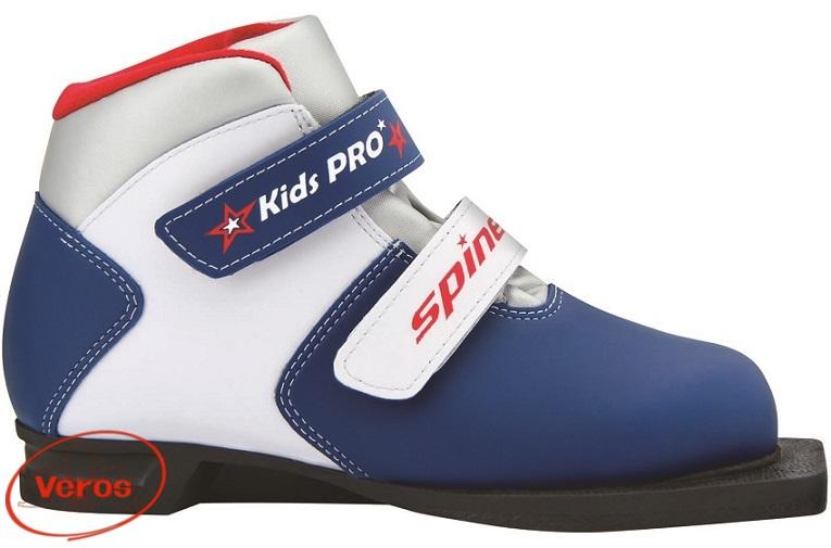 Ботинки 75 мм SPINE Kids Pro 399 (34) синий/белый ИК