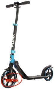 Самокат PLANK Shap Al складной колеса 230/200 мм черный/синий