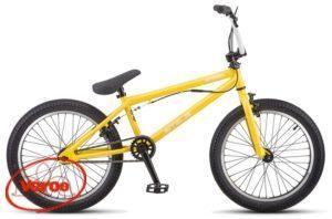 """20"""" STELS Saber V010 20,5"""" (желтый) 12,6 кг BMX"""